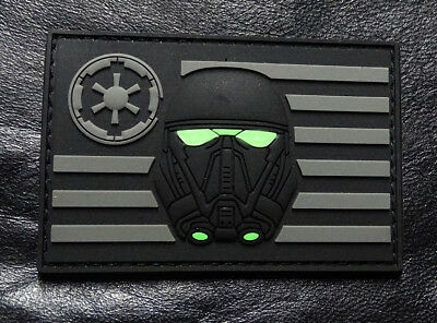 Stormtrooper USA Flag Star Wars Rogue Morale 3-D PVC Rubber Hook Patch ACU-MTS1
