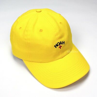 1567c480 NWT Noah NY Men's Yellow Core Logo Canvas Hat Strapback Dad Cap SS17  AUTHENTIC