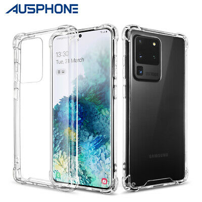 Shockproof Tough Hard Gel Clear Case Cover for Samsung S10 S9 S8 Plus Note 10 5G
