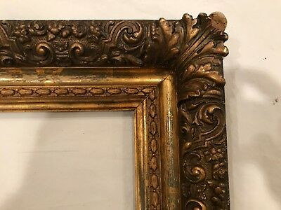19th Century 21x15 Antique American Gold Gilt Acanthus Leaf Picture Frame
