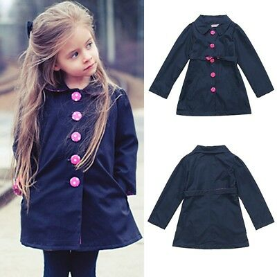 e1dfaa01d KIDS BABY TODDLER Girls Spring Fall Cartoon Trench Coat Wind Hooded ...