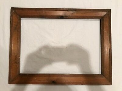 Antique 20x14 Wood Arts & Crafts Style Wood Picture Frame