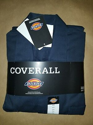 Dickies Men's Deluxe Cotton Coverall Long Sleeve Black Large Tall 100% Cotton