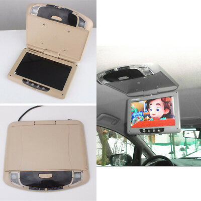 12-32V Car Ceiling Mount TFT LCD Monitor Player flip down  PAL/NTSC Video system