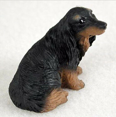 DACHSHUND (BLACK TAN) TINY ONES DOG Figurine Statue Pet Lovers longhaired
