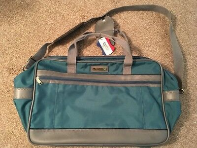 "Vintage 18"" Blue American Tourister Carry On Duffle Bag W/ Shoulder Strap"