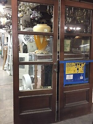 "three Panel Spanish Mediterranean French Doors77x27""ea 54""open Rod McKuen Estate"