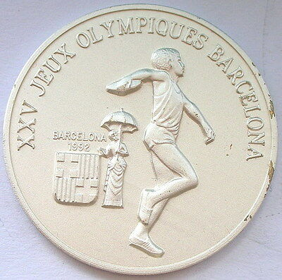 Guinea 1988 Discus Thrower 100 Francs Silver Coin,UNC