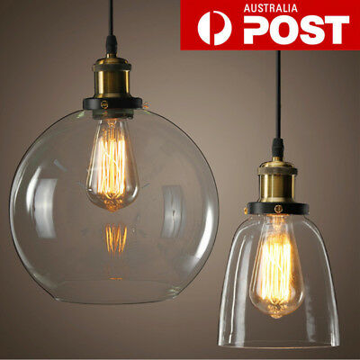 Modern Vintage Hanging Glass Ceiling Pendant Light Chandelier Fixture Lamp Shade