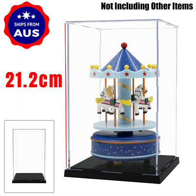 AU 21cm H Acrylic Plastic Display Case Box Self-Assembly Dustproof Collection