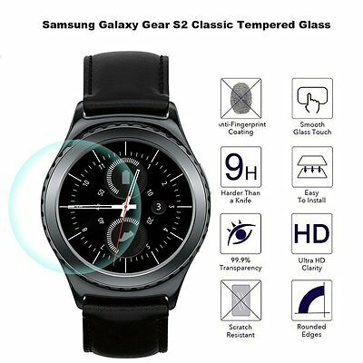 Samsung Gear S2 / S2 Classic Smart Watch Tempered Glass Screen Protector 9H+