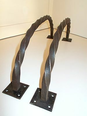 Pair of Large Vintage French Door Handles Twisted iron. Wrought Iron, Fabulous.