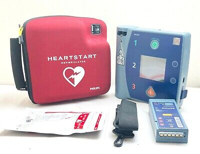 Philips Fr2+ Heartstart Aed Defib M3860A + Strong Battery And 02/2022 Pads