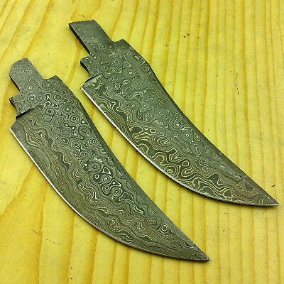 "Clearance Sale! Lot of 2 Damascus Blade ""RAINDROP"" Pattern Knife Supply BL23"