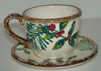 Yankee Candle Holiday Christmas Holly Greenery Cup Votive Candle Holder New