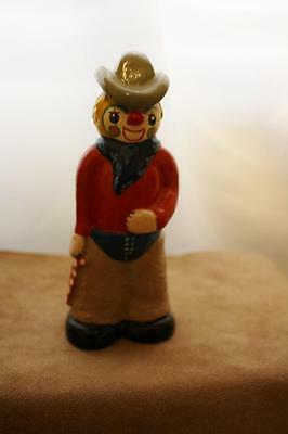 Cowboy Clown,  by Just for Happy Studios  6 1/2 Inches Tall