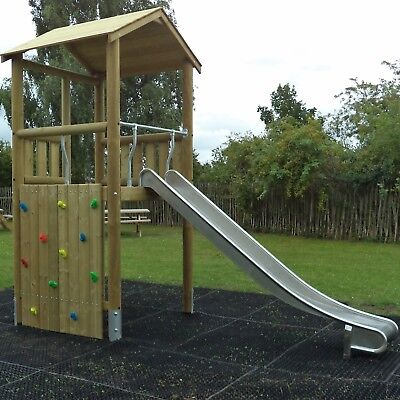 2 x Rubber Playground Swings Safety Mats Inc Fixing Pegs | 22mm Grass Matting