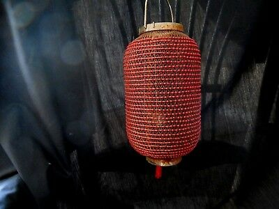 Vintage Moroccan Style Beaded Candle Holder Hanging Light Sconce Lamp