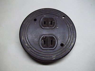 Vintage round electrical outlet