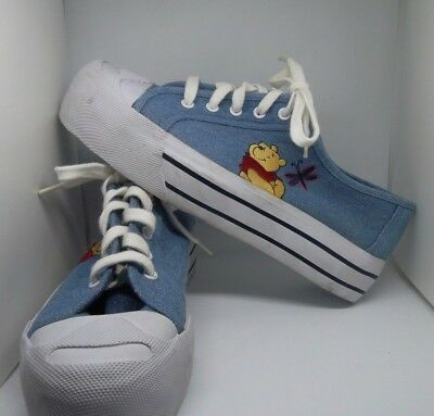 DISNEY WINNIE THE Pooh Women s Denim Sneakers Dragonfly Size 8.5 ... c075929e7f