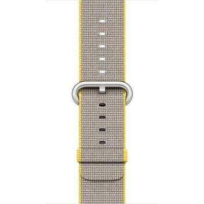 Apple - Watch 38mm Woven Nylon Band Yellow/L-Grey OEM-Authentic-Genuine-Original