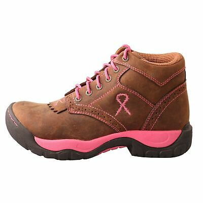 Twisted X Women's TETWP Oiled Saddle All Around Lace Up Barn Boots WAL0007
