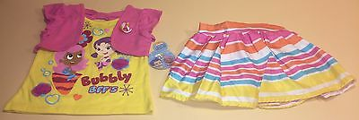 Bubble Guppies Toddler Girl Shirt, Skirt, & Shorts Outfit Set New 2T Molly Oona