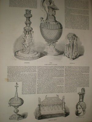 Exhibition Ancient and Medieval Art at Society of Arts London 1850 prints ref AX