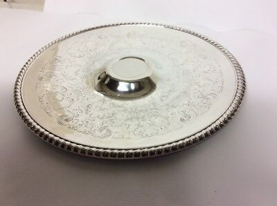 SILVERPLATED CHIP and DIP PLATTER