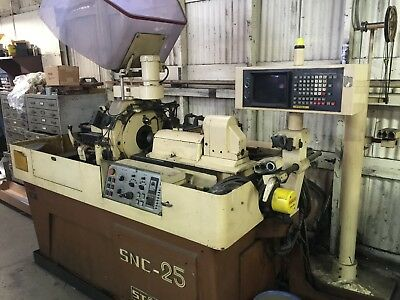 STAR CNC SNC-25DX Swiss Lathe Screw Machine 25mm / .983 dia  w/ bar feeder