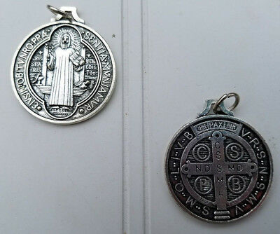"""St. Benedict Medal Catholic 1.25"""" Powerful protectn against demons when blessed"""