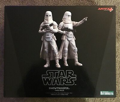 Star Wars Snowtrooper Two Pack 1/10 Scale. Brand New. Kotobuliya. ArtFX
