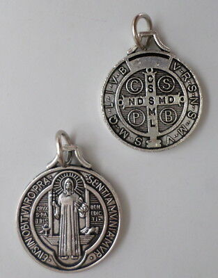 """St. Benedict Medal Catholic 3/4"""" When Blessed Powerful Protection Against Demons"""