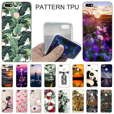 For Huawei P9 Lite Mini/ Y6 Pro 2017 Shockproof Silicone Pattern TPU Case Cover