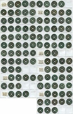 112 diff. XF-AU Ancient China 2-cash Large Coins, Northern Song, AD 1071-1125
