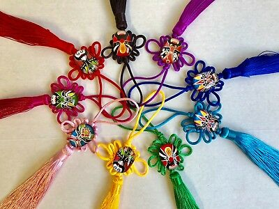6 pcs Chinese, Traditional Knot Hanging Tassel Charm- 9 colors and Free Shipping