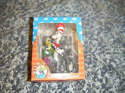 DR SEUSS CAT IN THE HAT ENESCO Jim Henson Collectible Christmas Ornament In Box