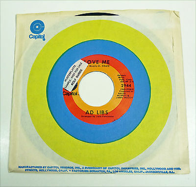 "AD LIBS - NM 1970 US Funk 7"" flc 45 Capitol ""Know All About You"""