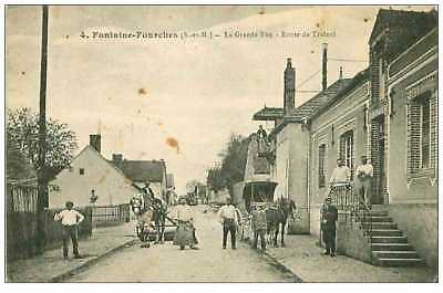 77.fontaine-Fourches.n°1497.la Grande Rue.route De Trainel.taches