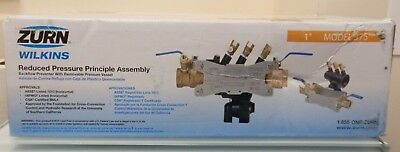 ZURN WILKINS 1-375 Reduced Pressure Zone Backflow Preventer G2689653