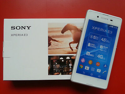 Sony XPERIA E3 in Weiß Handy Dummy Attrappe - Requisit, Deko, Werbung, Muster