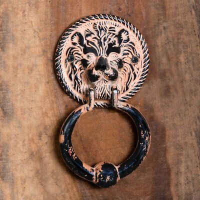 Large Rustic Lion Design Door Knocker with Hardware Large Antique Finish Door