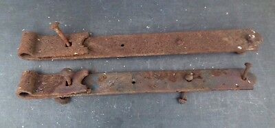 "pair of reclaimed 18 1/2"" strap hinges - gate hinge or stable door hinges"