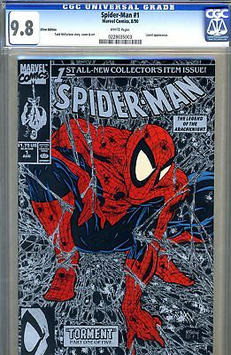 Spider-Man #1 CGC GRADED 9.8 - SILVER EDITION - McFarlane cove and art