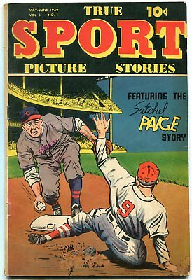 TRUE SPORT PICTURE STORIES V.5 #1-BOB POWELL ART- Satchel Paige VG