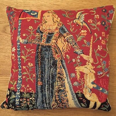 "Lady & The Unicorn 5 Senses, The Touch 14"" 35Cm Tapestry Cushion Cover With Zip"