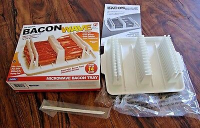 Makin Bacon Microwave Cooker New Wave Tray The Original As Seen On Tv In