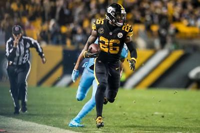 705fd9c8ee3 Leveon Bell Pittsburgh Steelers Color 8X10 Vs Titans 11-16-17 Color-Rush