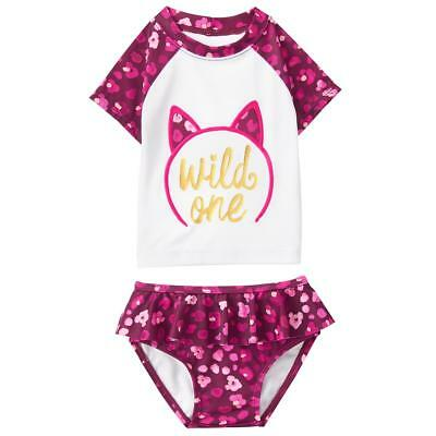 NWT GYMBOREE GIRLS SWIMSUIT SWIM  two-piece kitty cat   rashguard u pick size