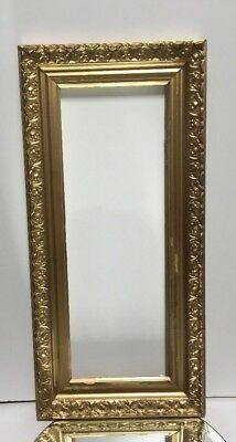 """VTG. Aesthetic Eastlake Victorian Style Wood Ornate Picture Frame Fits 8""""x 22"""""""